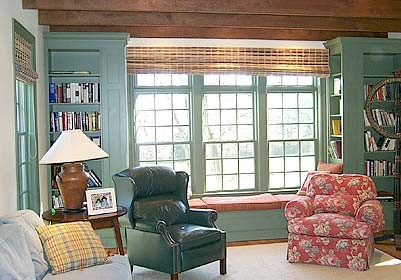 Bookcases With Window Seat Builtin Painted Finish