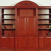 Entertainment Center, freestanding: stained and glazed cherry.
