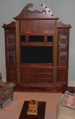 Custom entertainment center - Sherman and Gosweiler